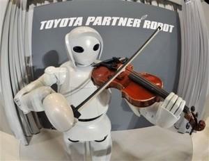 Robot Apatix yang dapat bermain violin