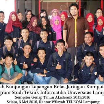 Kunjungan Kuliah Lapangan Ke PT. Telkom Wilayah Lampung